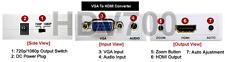 Premium Computer VGA + Audio To 1080p HDMI Video Converter Scaler