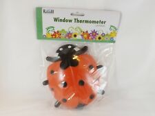 Russco lll Outdoor Window Thermometer -- New -- Lady Bug