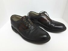 Vintage Footjoy Classics Tour Oxfords Leather Brown Golf Shoes Men 8.5D