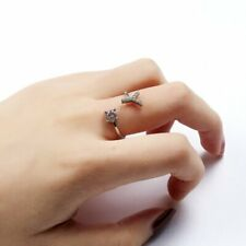 Fashion Crystal Letter Y Open Ring Women Finger Knuckle Adjustable Jewelry Gift