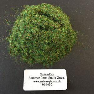 Serious-Play Summer Static Grass 2mm -Model Scenery Warhammer Railway Green base