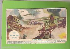 #D91.  INK  BLOTTER BOOK COVER - WWII TANK BATTLE , RUSSIA V GERMANY
