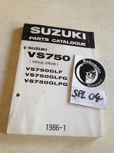 Suzuki Piezas List Catálogo Piezas Repuesto VS750 Intruder Vs 750 86 Éd. 85