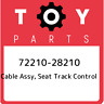 72210-28210 Toyota Cable assy, seat track control 7221028210, New Genuine OEM Pa