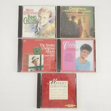 Lot of 5  Christmas CDs Bing Crosby, Frank Sinatra, Cristy Lane, Pat Boone,