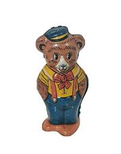 Vintage J. Chein & Co. Tin Litho Wind Up Dancing Bear 1950's