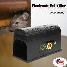 Electronic Mice Rat Killer Rodent Repeller Electric Trap Zapper Pest