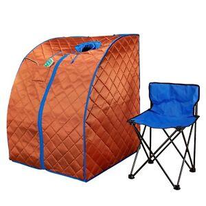 Durasage XLarge Ultra-Low EMF Negative Ion Portable Infrared Sauna w/ Chair