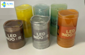 LED Indoor Real Wax Battery Powered Candles With Timer Various Colours