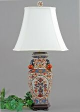 REPRODUCTION PORCELAIN CHINESE IMARI LAMP