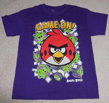 GRAPHIC T's - ANGRY BIRDS - BOYS PURPLE T-SHIRT SIZE 14/16