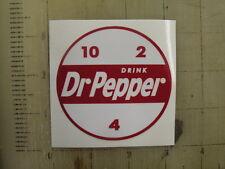"Vintage Dr Pepper sticker decal 3"" diameter"