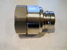 "New Dixon SS Quick Release 1-1/2"" NPT H Coupling Nipple, V12F12-SS, 1500 PSI"