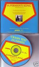CRASH TEST DUMMIES Superman's Song PROMO DJ CD Single SUPER MAN 1991 USA MINT