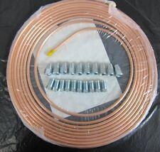 De 6 mm Od X 7,5 Mtr fácil Flare Cobre Freno Pipa + 10 EA 7/16 X 20 Macho/hembra NUTS