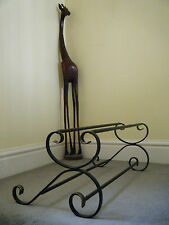 wrought iron shoe rack, handmade, (metal).