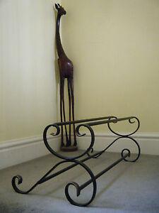 wrought iron shoe rack, handmade, (metal).