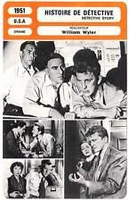FICHE CINEMA : HISTOIRE DE DETECTIVE - Douglas,Parker,Wyler 1951 Detective Story