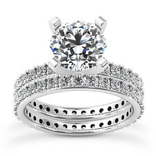 Eternity Solitaire 2.05 Carat Round Diamond G/VS2 Engagement Ring White Gold