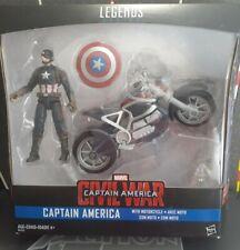 "CAPTAIN AMERICA 2015 Marvel Legends 3.75"" Motorcycle Action Figure Toy CIVIL WAR"