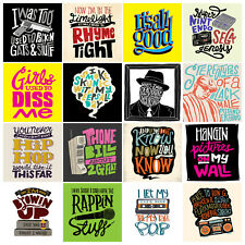 NOTORIOUS BIG LOT OF 16 STICKERS HIP HOP LYRICS OF THE BIGGIE