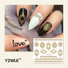 Nagelsticker  Fingernägel Aufkleber Tattoo Nail Art Nageldesign 6030 gold
