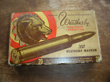 .257 Weatherby Magnum Bear Ammo Box Ammunition Older Rare