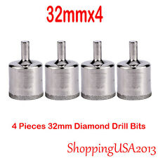 "4 PC 32mm 1.25"" Diamond Drill Bit Set Tool Hole Saw Cutter Glass Marble Ceramic*"