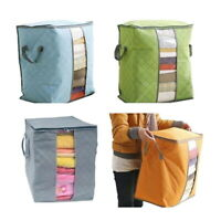 Bamboo Charcoal Cotton Storage Bag Clothes Storage Bag Quilt Organizer New US