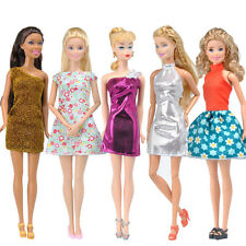 E-TING 5x Handmade Mini Dress Wedding Party Skirt Summer Clothes For Barbie Doll