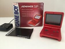 NINTENDO GBA SP US RED FLAME BOX Notice + Power US.