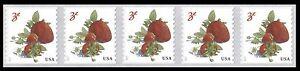 #5201 2017 Strawberries Coil Strip/5 -  MNH