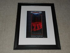 "Framed Halloween III Mini-Poster, USA Print Cult Hit 1982 Part 3 14""x17"""