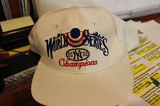 MLB 2000 World Series Champion Yankee Hat White Snap-Back Style