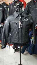 Giubbino Alpinestars Pelle Vintage Nero Tg. 52 Hero Leater Jacket