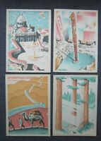 1932 Lot of 4 S.S. President Coolidge Menu, Cover art by Philip Little
