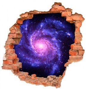 Schwarzes Loch Galaxie Universum Weltall Sterne Planeten Wandtattoo B0208