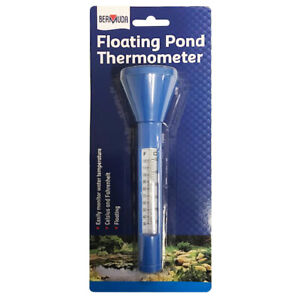 Bermuda Floating Pond Thermometer with Nylon Cord Accurate Temperature Fish Koi