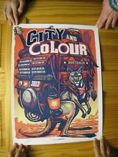City And Colour Poster Silk Screen Australia 2012 Munk One & Color