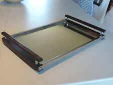 ART DECO MODERNIST SERVING TRAY VINTAGE PLATEAU MODERNISTE ART DECO EBENE