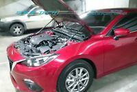 Carbon Fiber Hood Shock Damper for 14-17 Mazda3 Mazda 3 MK3 BM Sedan Skyactiv
