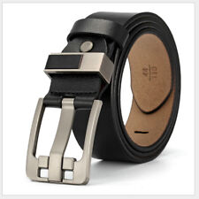 Classic Men's Real Genuine Cow Leather Waistband Waist Belt Strap Girdle Buckle