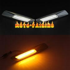 For BMW E60 E82 E87 E90 E91 LED Side Marker Light Turn Signal Carbon Fiber Trim