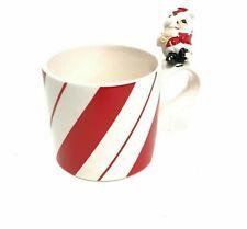 Christmas Coffee Tea Cocoa Mug Cup with Santa on Handle 1977 Fitz & Floyd