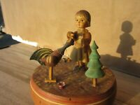 Vintage Theorens German Music Box Plays Hi Lilli Hilo Girl Rooster Switzerland