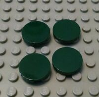 New LEGO Lot of 4 Dark Green 2x2 Round Tile Pieces