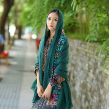 Women Vintage Indian Style Flower Cotton Linen Scarf Ladies Shawls Scarves Wrap