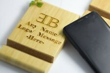 Wood I Phone Holder Stand Free Engraved Gift Personalised Tablet Present Pda Uk