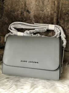NWT Marc Jacobs Crossbody Bag In Storm Grey Scratch Resistant Leather