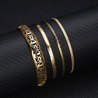 Fashion Gold Bracelets Bangles Set Ladies Charm Jewellery Gift Party Wedding New